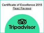 Certificate Of Excellence Tripadvisor 2015